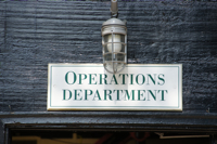 Operations Department Sign CA