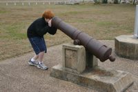 Peering into a cannon